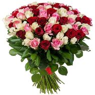101 roses in a chic bouquet - flowers and bouquets on 7roz.lviv.ua