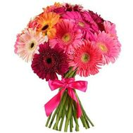 Bouquet of 17 different colored gerberas - flowers and bouquets on 7roz.lviv.ua