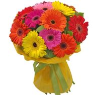 Bouquet of 15 gerberas flowers - flowers and bouquets on 7roz.lviv.ua