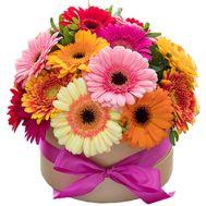 Gerberas in the box - flowers and bouquets on 7roz.lviv.ua