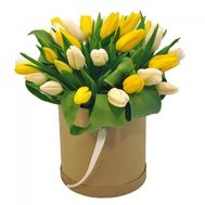 A box of tulips - flowers and bouquets on 7roz.lviv.ua