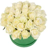 Nice box with white roses - flowers and bouquets on 7roz.lviv.ua