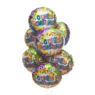 Foiled balls for Birthday - flowers and bouquets on 7roz.lviv.ua