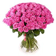 Bouquet of flowers from 101 pink roses - flowers and bouquets on 7roz.lviv.ua