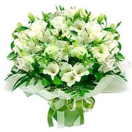 Bouquet of 17 alstromeries and 5 roses - flowers and bouquets on 7roz.lviv.ua