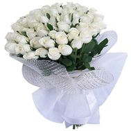 Bouquet of flowers from 41 white roses - flowers and bouquets on 7roz.lviv.ua