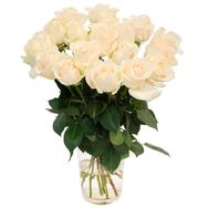 Bouquet of 17 white roses - flowers and bouquets on 7roz.lviv.ua