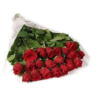Bouquet of 21 imported roses - flowers and bouquets on 7roz.lviv.ua