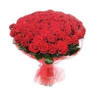 Bouquet of flowers from 101 red roses - flowers and bouquets on 7roz.lviv.ua