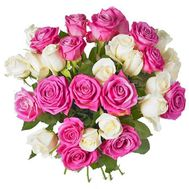 Bouquet of 29 multi-colored roses - flowers and bouquets on 7roz.lviv.ua