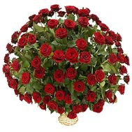Basket of 101 red roses - flowers and bouquets on 7roz.lviv.ua