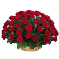 Basket of 51 red roses - flowers and bouquets on 7roz.lviv.ua