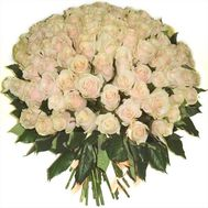Bouquet of 101 cream-colored roses - flowers and bouquets on 7roz.lviv.ua