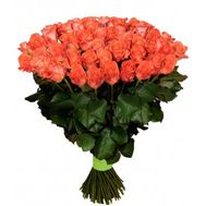 Bouquet of 101 orange roses - flowers and bouquets on 7roz.lviv.ua