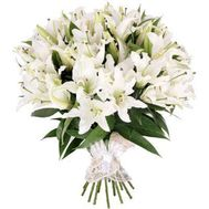 Bouquet of 35 lilies - flowers and bouquets on 7roz.lviv.ua