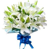 Bouquet of 19 lilies - flowers and bouquets on 7roz.lviv.ua