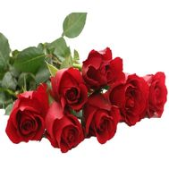 Bouquet of 7 import meter roses - flowers and bouquets on 7roz.lviv.ua