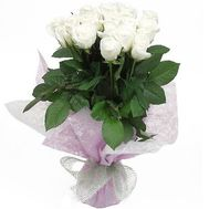 Bouquet of 19 white roses - flowers and bouquets on 7roz.lviv.ua