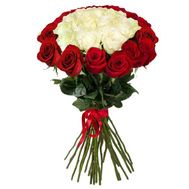 Bouquet of 35 imported roses - flowers and bouquets on 7roz.lviv.ua