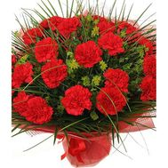 Bouquet of 35 red carnations - flowers and bouquets on 7roz.lviv.ua