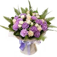Bouquet of carnations and roses - flowers and bouquets on 7roz.lviv.ua
