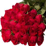 Bouquet of 25 red imported meter roses - flowers and bouquets on 7roz.lviv.ua