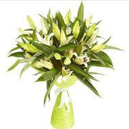 Bouquet of 9 lilies - flowers and bouquets on 7roz.lviv.ua