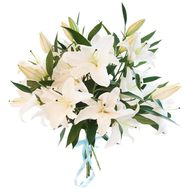 Bouquet of 5 branches of lily - flowers and bouquets on 7roz.lviv.ua