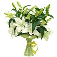 Bouquet of 7 branches of lily - flowers and bouquets on 7roz.lviv.ua
