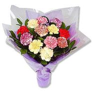 Bouquet of 15 different colored carnations - flowers and bouquets on 7roz.lviv.ua