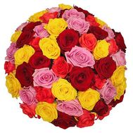 Bouquet of 61 roses - flowers and bouquets on 7roz.lviv.ua