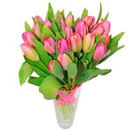 Bouquet of 21 pink tulips - flowers and bouquets on 7roz.lviv.ua