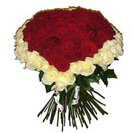Bouquet of hearts from 101 roses - flowers and bouquets on 7roz.lviv.ua