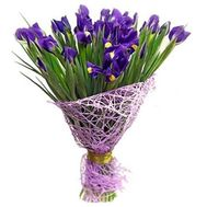 Bouquet of flowers from 25 irises - flowers and bouquets on 7roz.lviv.ua