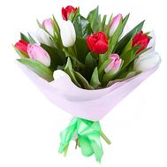 Bouquet of flowers from 11 tulips - flowers and bouquets on 7roz.lviv.ua