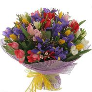 Bouquet of 21 tulips and 14 irises - flowers and bouquets on 7roz.lviv.ua