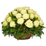 Basket of 41 roses - flowers and bouquets on 7roz.lviv.ua