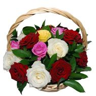 Basket of 17 roses - flowers and bouquets on 7roz.lviv.ua