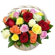 Basket of 25 roses - flowers and bouquets on 7roz.lviv.ua