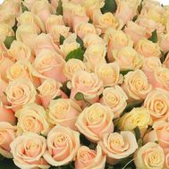 Cream roses per piece - flowers and bouquets on 7roz.lviv.ua
