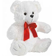 Soft toy White bear - flowers and bouquets on 7roz.lviv.ua