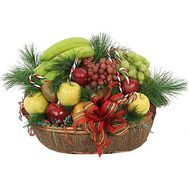 New Year fruit basket - flowers and bouquets on 7roz.lviv.ua