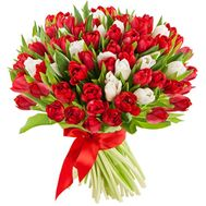 Bouquet of 101 tulips - flowers and bouquets on 7roz.lviv.ua