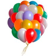 25 multi-colored balloons - flowers and bouquets on 7roz.lviv.ua