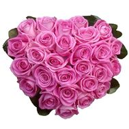 Heart of 27 pink roses - flowers and bouquets on 7roz.lviv.ua