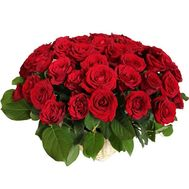 Basket of 55 red roses - flowers and bouquets on 7roz.lviv.ua