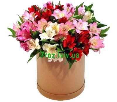 """Alstroemeria in the box"" in the online flower shop 7roz.lviv.ua"
