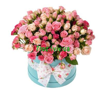"""Shrub roses in the box"" in the online flower shop 7roz.lviv.ua"