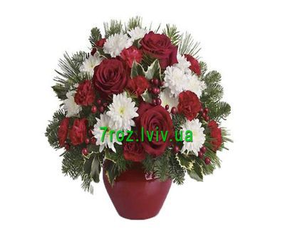 """""""New Year''s composition"""" in the online flower shop 7roz.lviv.ua"""